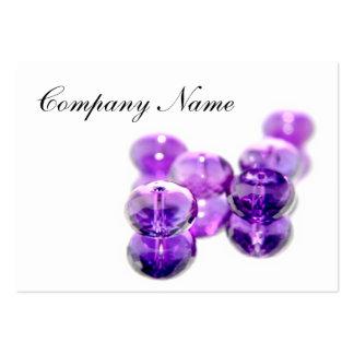 Tarjetas de visita púrpuras de la gota