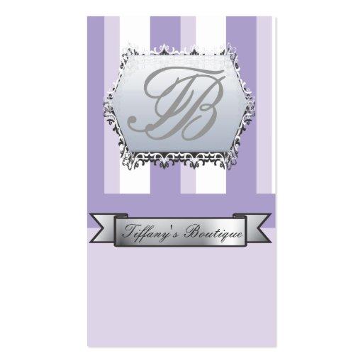 Tarjetas de visita púrpuras de moda del Victorian
