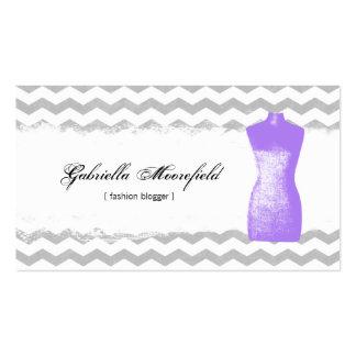 Tarjetas de visita púrpuras del contacto del Blogg