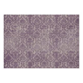 tarjetas de visita púrpuras del damasco del vintag