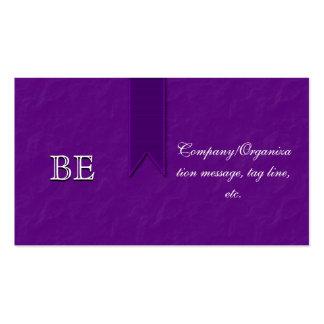 Tarjetas de visita púrpuras elegantes de la cinta