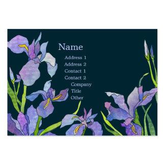Tarjetas de visita púrpuras elegantes de los