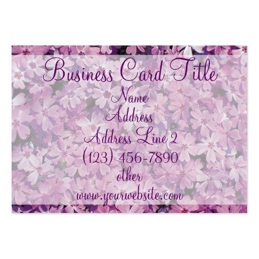 Tarjetas de visita púrpuras hermosas de la flor de