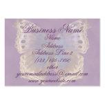 Tarjetas de visita púrpuras magníficas de la marip
