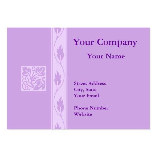 Tarjetas de visita púrpuras profesionales de la ho