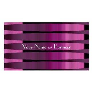 Tarjetas de visita púrpuras rosadas del arsenal de