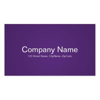 Tarjetas de visita púrpuras simples y profesionale