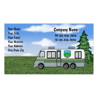 Tarjetas de visita que acampan