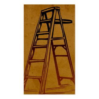 Tarjetas de visita quemadas de la escalera