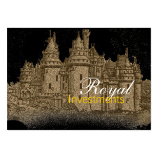 Tarjetas de visita reales del castillo francés