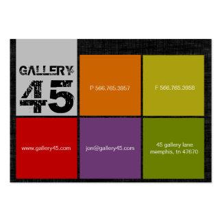 Tarjetas de visita rechonchas de la galería 45