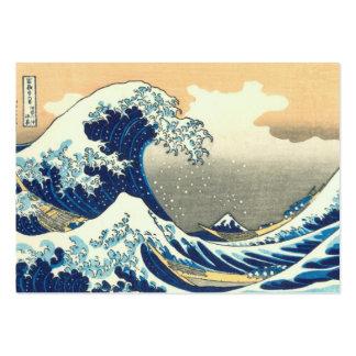 Tarjetas de visita rechonchas de la gran onda