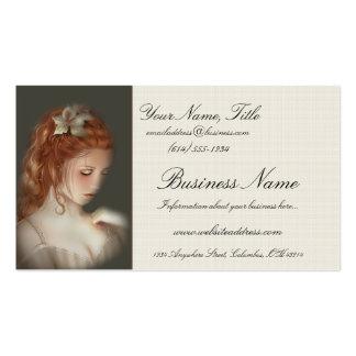 Tarjetas de visita Redheaded hermosas suaves de la
