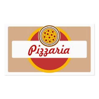 Tarjetas de visita redondas de la pizza del