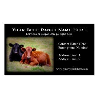 Tarjetas de visita relacionadas del rancho de gana