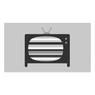 Tarjetas de visita retras de la TV
