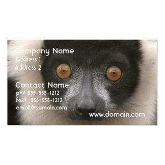 Tarjetas de visita rizadas del Lemur