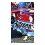 Tarjetas de visita rojas clásicas del coche