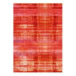 Tarjetas de visita rojas del arte abstracto del pu