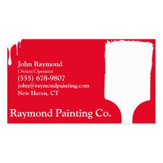 Tarjetas de visita rojas del pintor