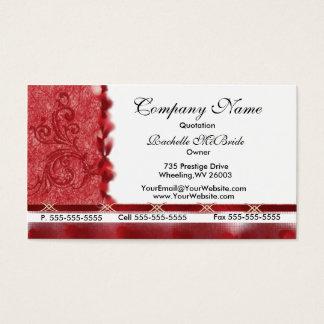 Tarjetas de visita rojas elegantes del diseño del