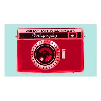 Tarjetas de visita rojas retras de la fotografía