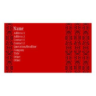 Tarjetas de visita rojas y negras