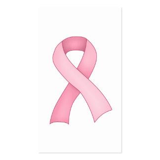 Tarjetas de visita rosadas de la cinta de la conci
