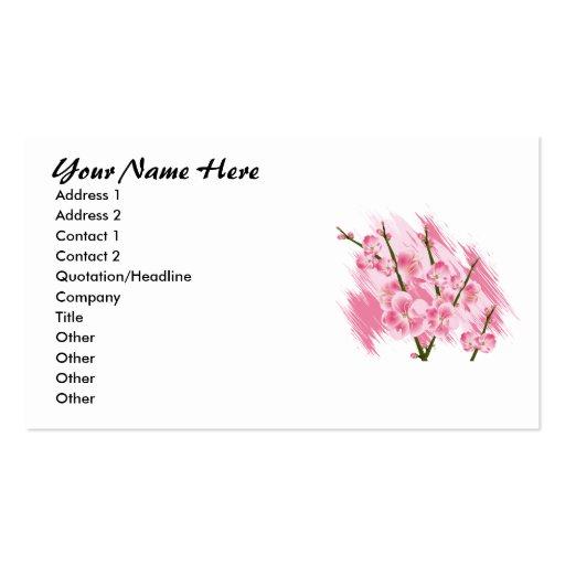 Tarjetas de visita rosadas de la flor de los sueño