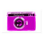 Tarjetas de visita rosadas de la fotografía de la