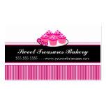 Tarjetas de visita rosadas de la panadería de las