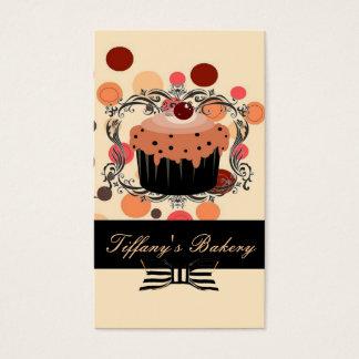 Tarjetas de visita rosadas de la panadería del