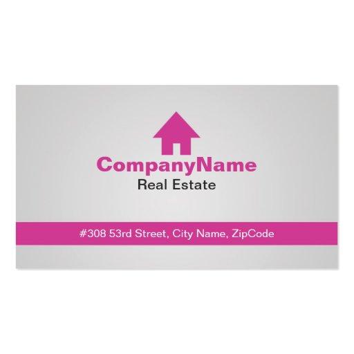 Tarjetas de visita rosadas de las propiedades inmo