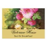 Tarjetas de visita rosadas de los rosas de la col