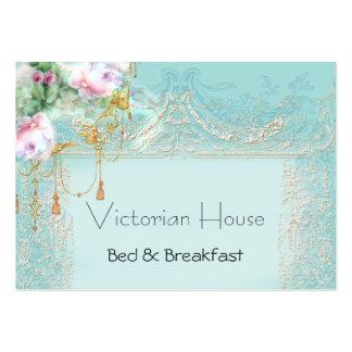 Tarjetas de visita rosadas de los rosas del Victor