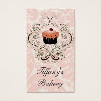 Tarjetas de visita rosadas del boutique del