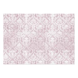 tarjetas de visita rosadas del damasco del vintage