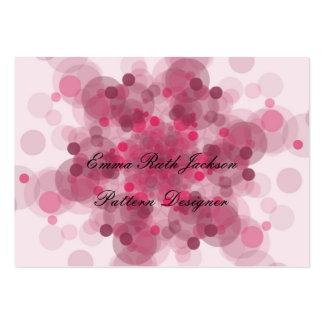 Tarjetas de visita rosadas del modelo
