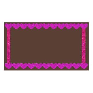 Tarjetas de visita rosadas del pan de jengibre de