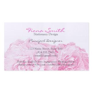 Tarjetas de visita rosadas del Peony