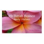 Tarjetas de visita rosadas del Plumeria