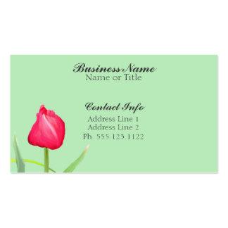 Tarjetas de visita rosadas del tulipán