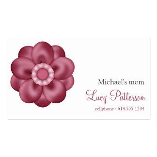 Tarjetas de visita rosadas elegantes bonitas de la