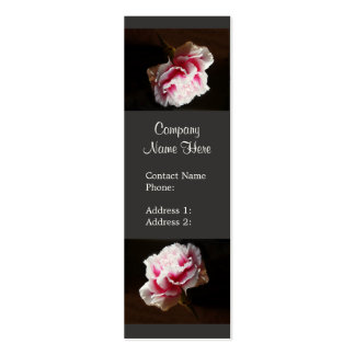 Tarjetas de visita rosadas elegantes de la flor de