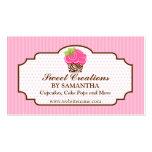 Tarjetas de visita rosadas elegantes de la panader