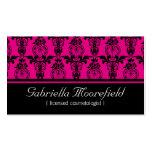 Tarjetas de visita rosadas negras del Cosmetologis