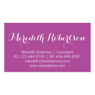 Tarjetas de visita rosadas profesionales de la esc