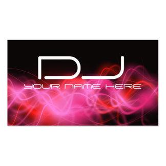 Tarjetas de visita rosadas psicodélicas de DJ de l