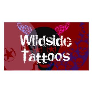 Tarjetas de visita salvajes de los tatuajes