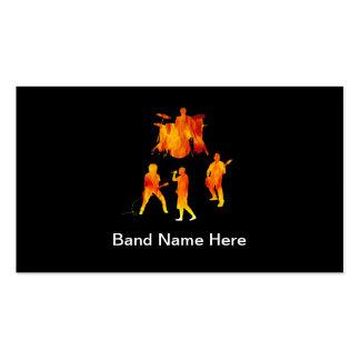 Tarjetas de visita simples de la banda de rock